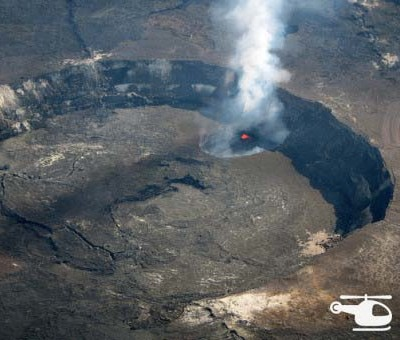 Halema'uma'u Crater from Helicopter. Photo credit https://flic.kr/p/josXtS