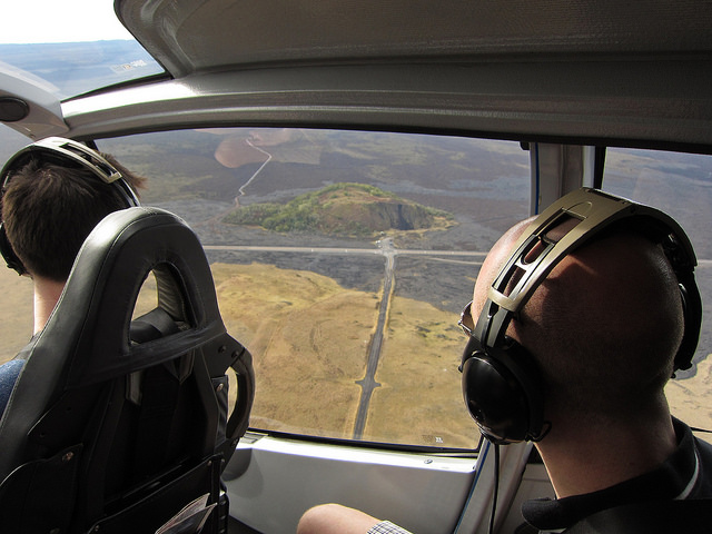 pu'u huluhulu from helicopter