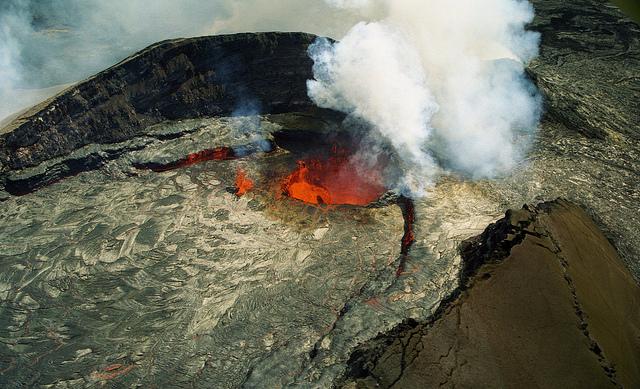 puu oo vent at Kilauea Volcano