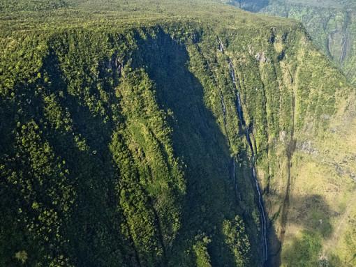 tall waterfall cliffs of hamakua