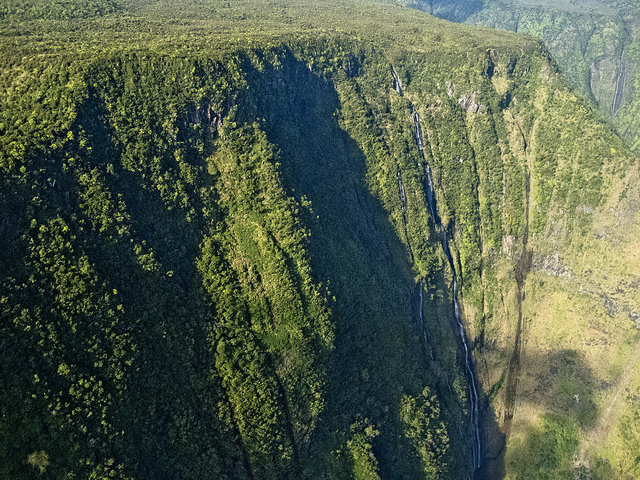 tall waterfall cliffs of hamakua
