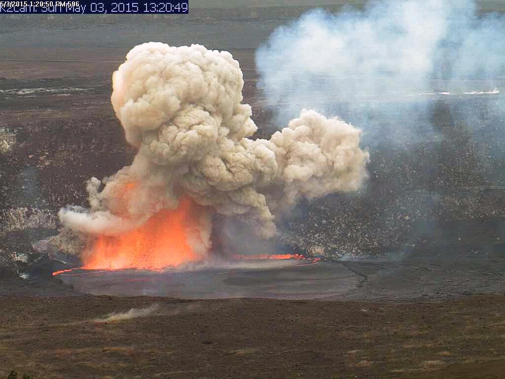 Kilauea Volcano at Halemaumau Crater
