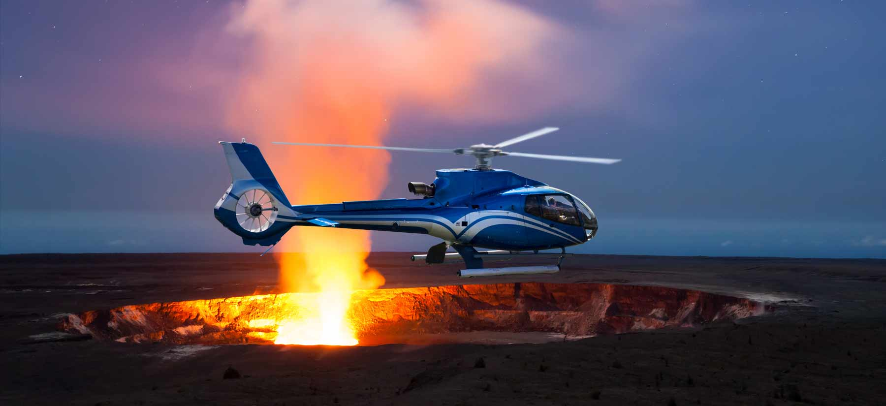 Night Helicopter Tour Big Island