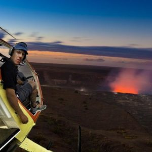 Helicopter Tour Volcanoes and Waterfalls Open Doors